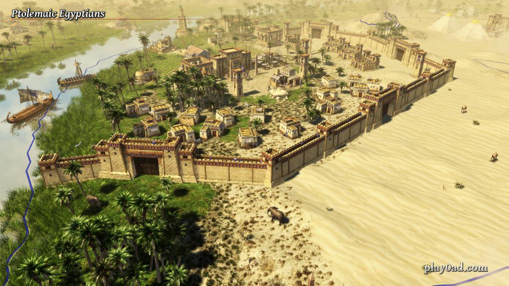 Ein ptolemäischen ägyptischen Siedlung entlang des Nils.